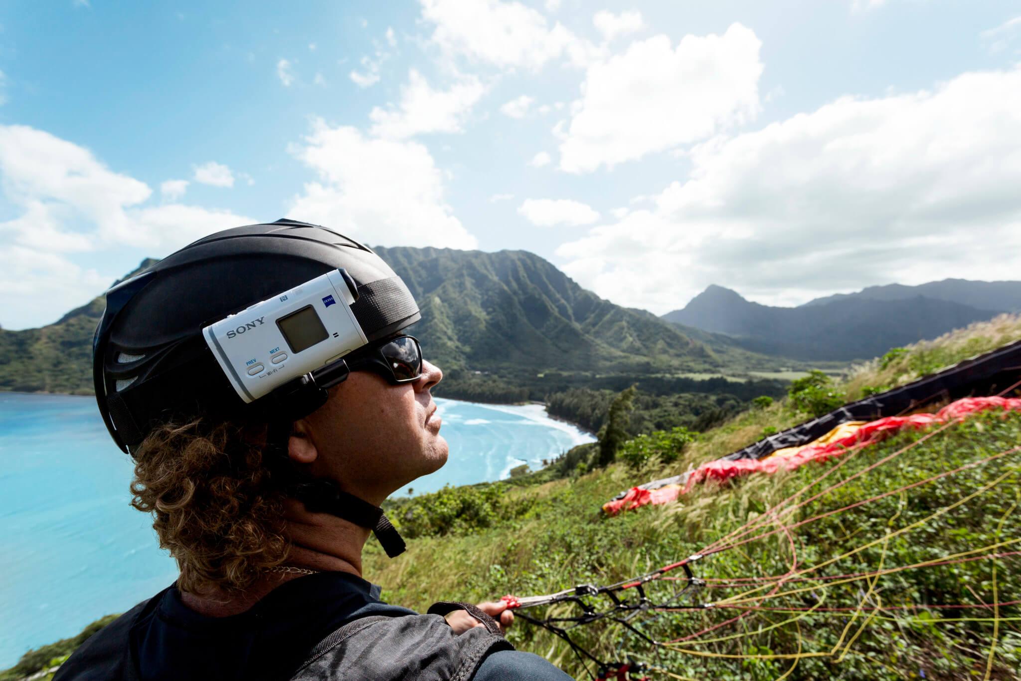 Боковое крепление на голову для экшн-камеры Sony Action Cam