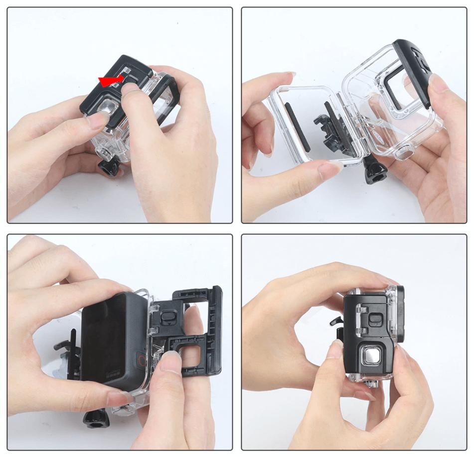 Установка камеры GoPro HERO 7 Black в аквабокс