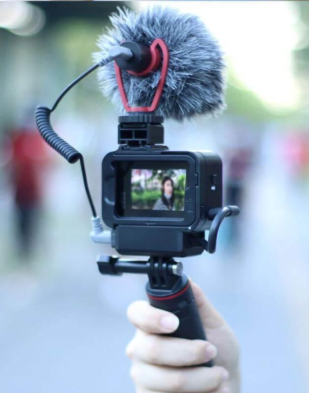 Рамка адаптера микрофона для камеры GoPro Hero 8 Black