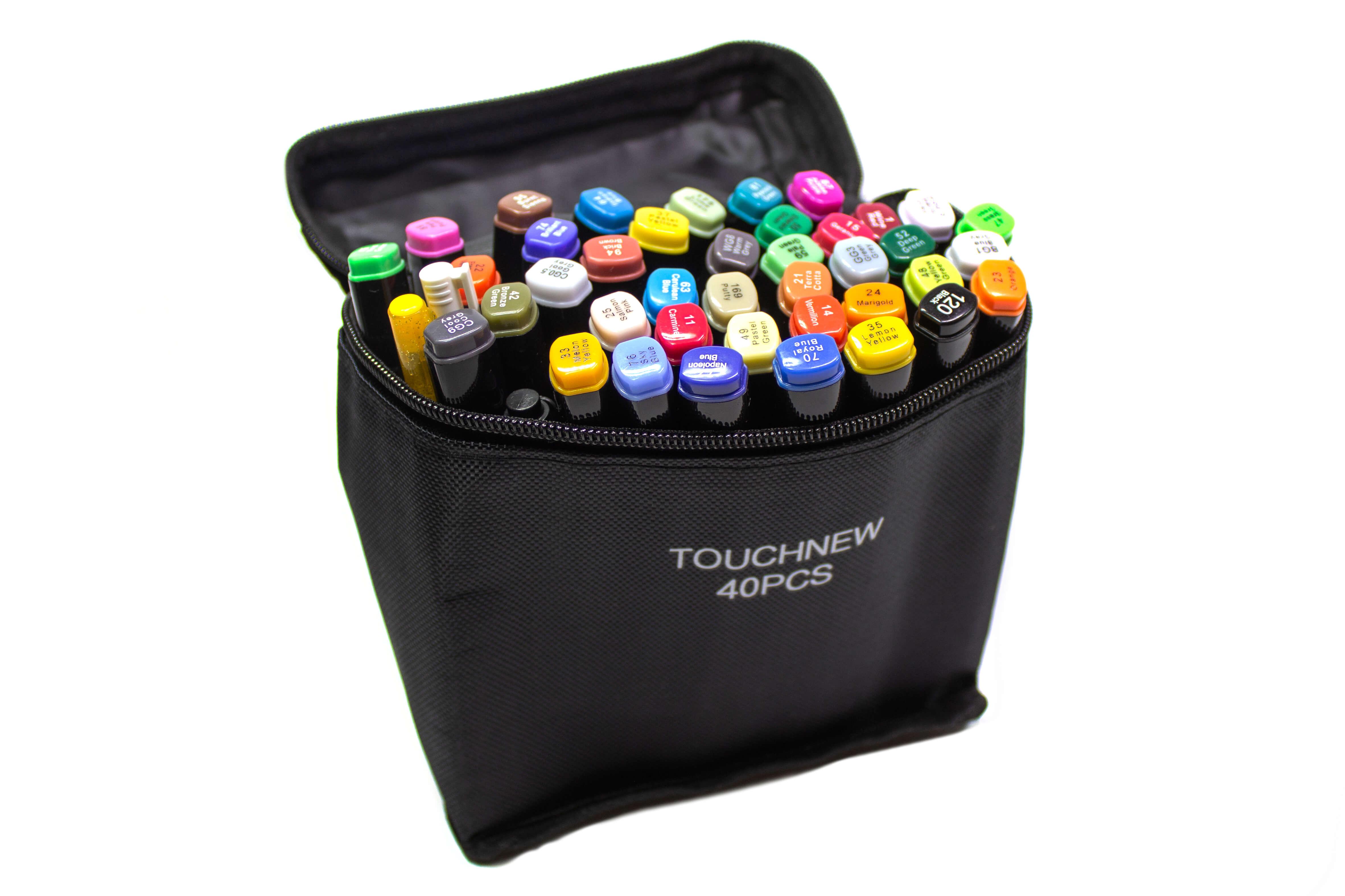 Маркеры Touch New 40 цветов в черных корпусах