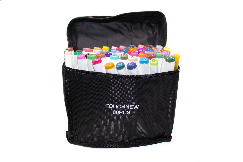 Маркеры Touch New 60 цветов в белых корпусах