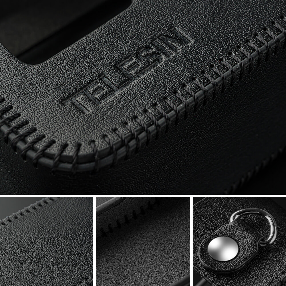 Кожаный чехол для экшн-камеры GoPro 8 фирмы Telesin
