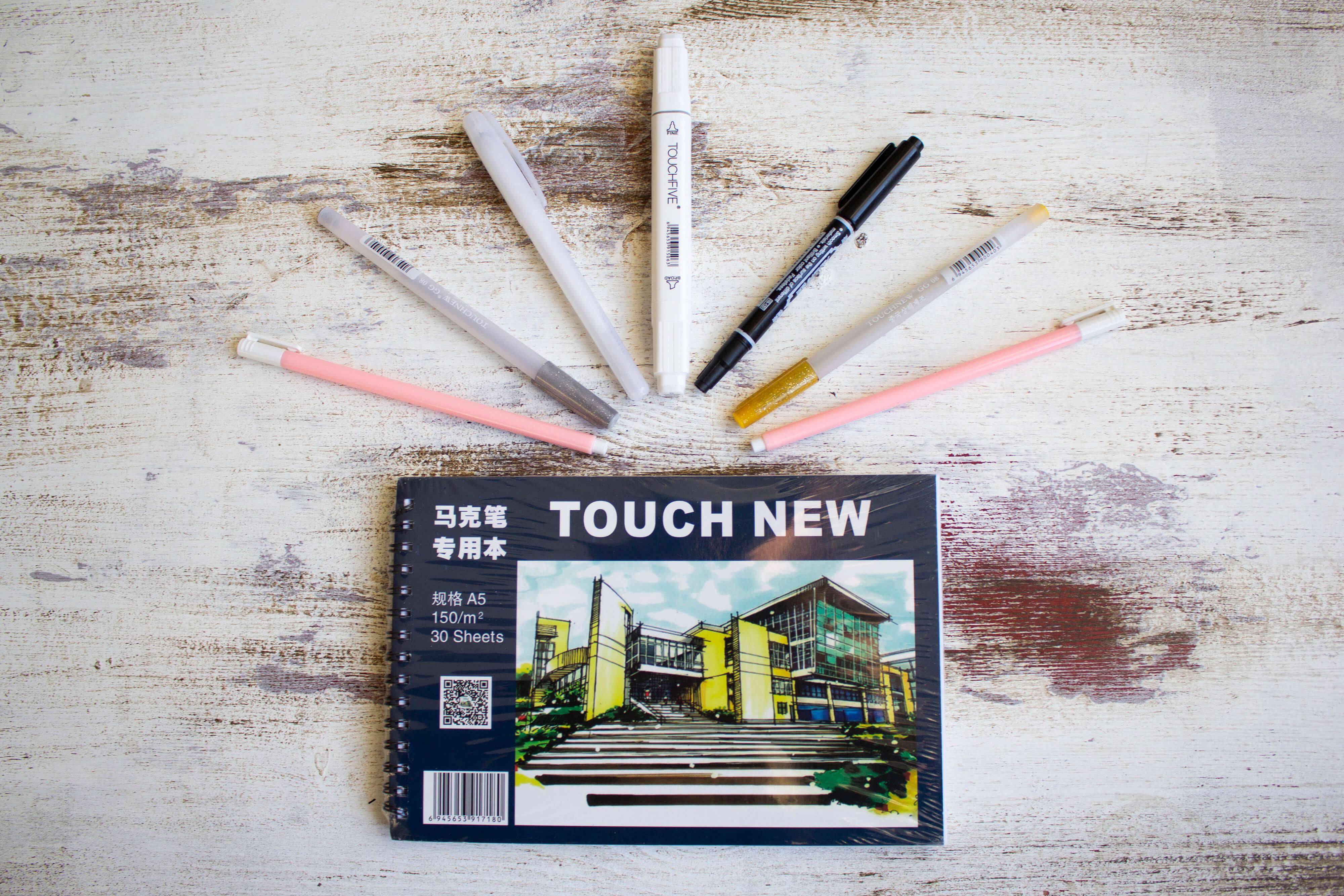 Маркеры touch new купить 168 цветов в черных корпусах