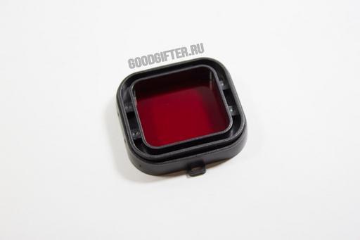 Красный фильтр GoPro на аквабокс