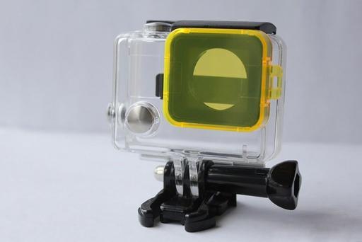 Желтый фильтр GoPro на объектив аквабокса для съемки под водой