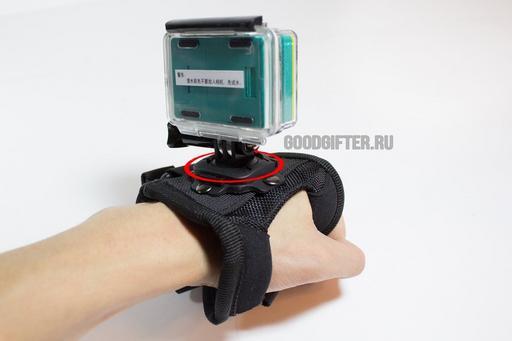 Улучшенное крепление на запястье поворотное на 360 градусов для Xiaomi Yi