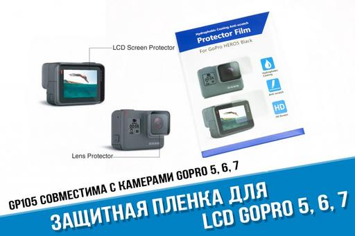 Защитная пленка GoPro на экран и линзу