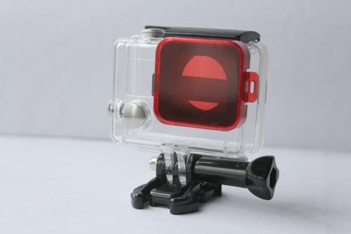 Красный фильтр GoPro на объектив аквабокса для съемки под водой