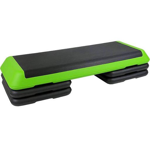 STPRO202 Степ платформа обрезиненная Профи, 3-х уровневая (зеленая)