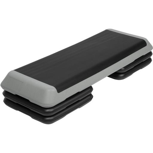 STPRO201-A Степ платформа обрезиненная Профи, 3-х уровневая (Серый)
