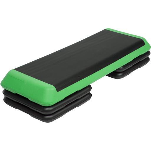 STPRO201-C Степ платформа обрезиненная Профи, 3-х уровневая (Зеленая)