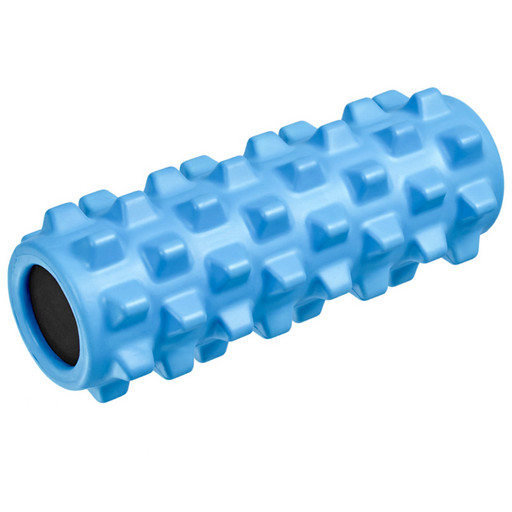B33089 Ролик для йоги полнотелый (голубой) 33х12см., ЭВА/ПВХ/АБС
