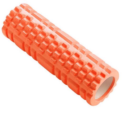 B33114 Ролик для йоги (оранжевый) 44х14см ЭВА/АБС