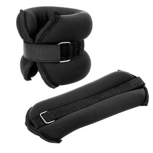 "HKAW101-1 Утяжелители ""ALT Sport"" (2 х 0,3/0.5/0.75/1/1.5 кг) (нейлон) в сумке (черные)"