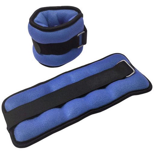 "HKAW101-2 Утяжелители ""ALT Sport"" (2 х 0.3/0.5/0.75/1/1.5/2/2.5 кг) (нейлон) в сумке (серые)"