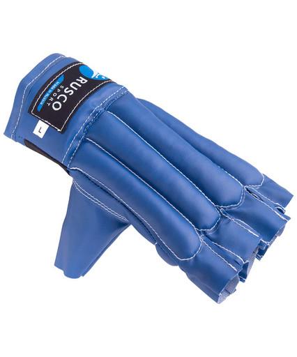 Перчатки снарядные, шингарды, кожзам, синий