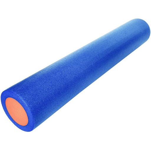Ролик для йоги полнотелый 2-х цветный (сине-оранжевый) 90х15см