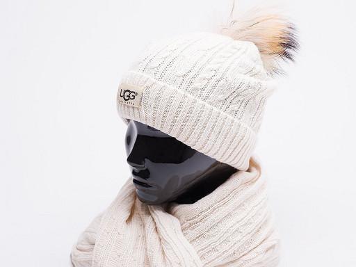 Комплект UGG (шапка, перчатки, шарф) (17199)