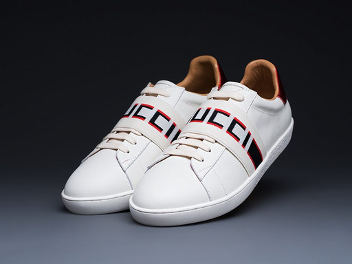 Кроссовки Gucci Stripe Leather (12991)