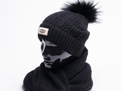 Комплект UGG (шапка, перчатки, шарф) (17201)