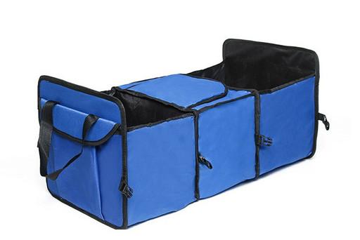 Складной органайзер в багажник с термоотсеком синий