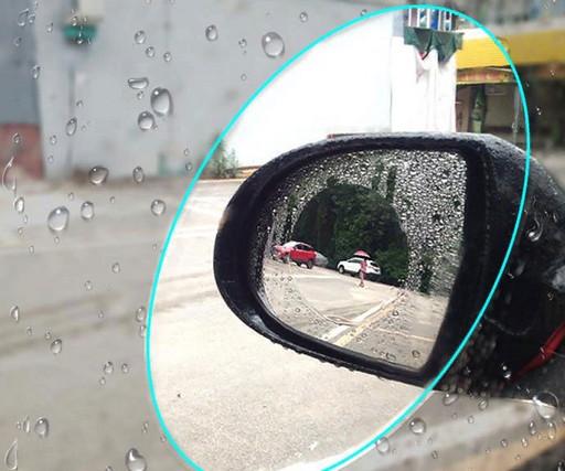 Антидождь пленка на зеркало заднего вида 2 штуки круг