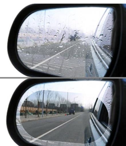 Антидождь пленка на зеркало заднего вида 2 штуки овал