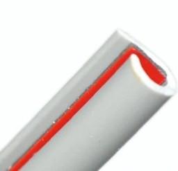 U-образная резиновая лента серая