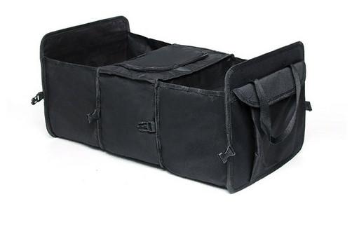 Складной органайзер в багажник с термоотсеком черный
