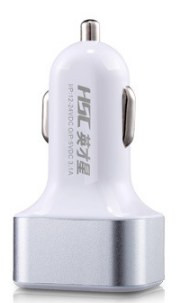 Серебряное автомобильное зарядное устройство USB