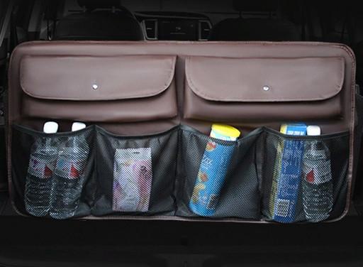 Органайзер на заднее сиденье в багажник (цвет темно коричневый)