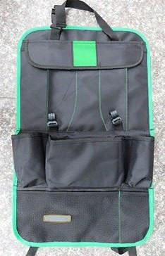 Органайзер на спинку сиденья автомобиля с карманами (цвет зеленый)