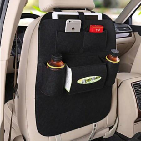 Органайзер накидка с карманами на заднее сиденье (цвет черный)