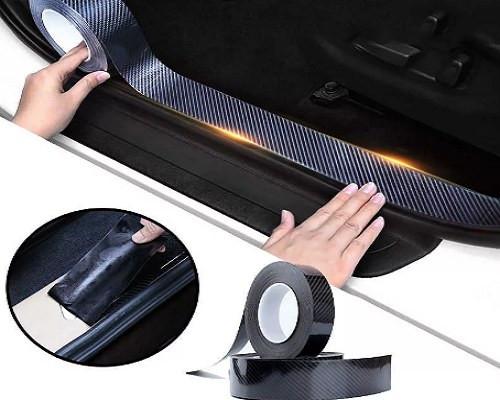 Углеродное волокно защитная наклейка на автомобиль (ширина 30мм длина 3 метра)