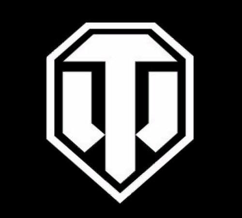 Наклейка WORLD OF TANKS логотип белый