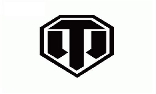 Наклейка WORLD OF TANKS логотип черный
