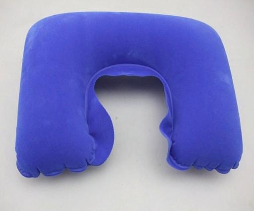 Надувная подушка с берушами и светозащитной маской 3 в 1(цвет синий)