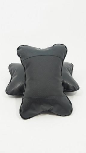 Подушка на подголовник черная