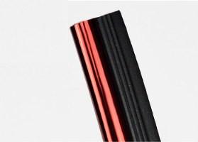 Лента красная для стыков в панели (хромированная)