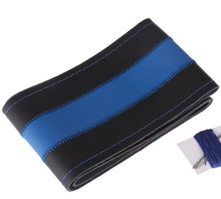 Чехол из прессованной кожи с синей полосой
