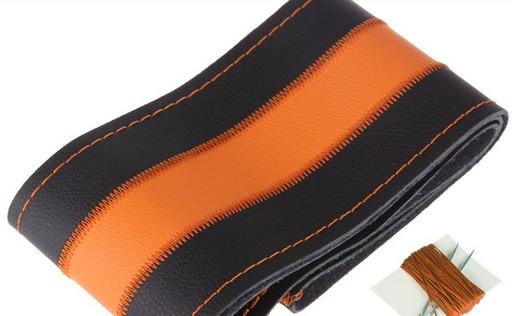 Чехол из прессованной кожи с оранжевой полосой