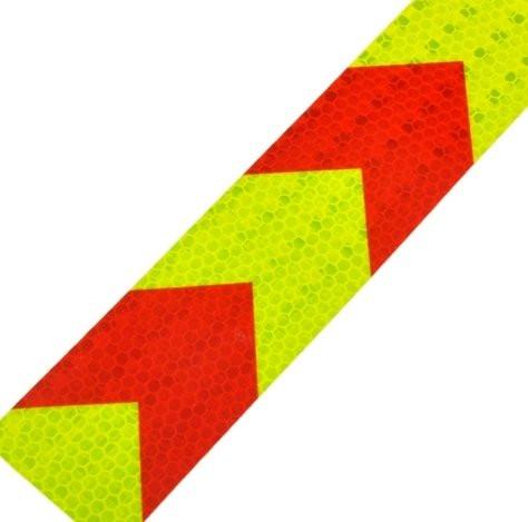 Желто-красная светоотражающая лента