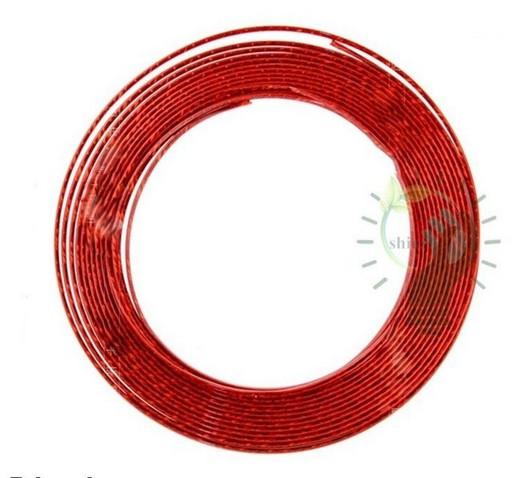 U-образная красная вставка на решетку вентиляции