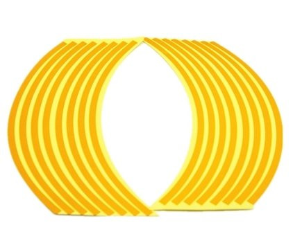 Желтые наклейки для дисков