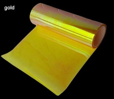 Золотая пленка хамелеон для фар 300х1200 мм