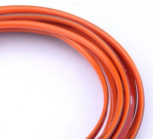 Оранжевая декоративная лента