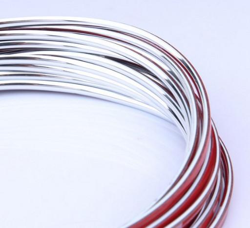 Серебренная декоративная лента