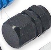 Колпачек вентиля колеса черный, металлический