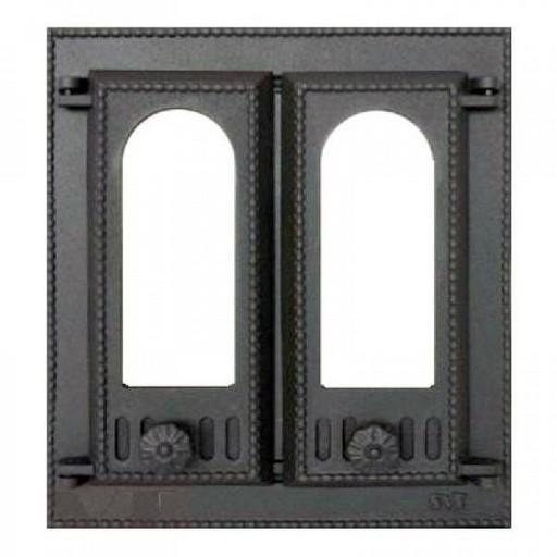 Дверца топочная SVT 408 со стеклом