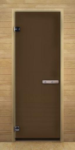 Дверь для бани бронза Матовая